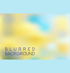 horizontal wide multicolored yellow and blue vector image
