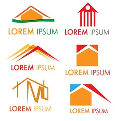 house icon set isolated on white background vector image