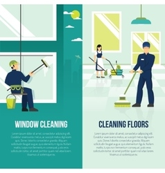 Industrial Cleaning 2 Flat Verticals Banners vector
