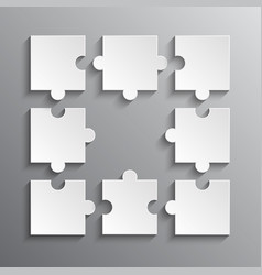 Infografic puzzle pieces - jigsaw puzzle vector