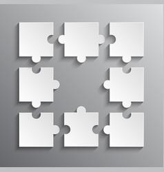 Infografic puzzle pieces - jigsaw puzzle vector