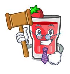 Judge strawberry mojito mascot cartoon vector