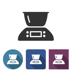 kitchen scales icon in different variants vector image