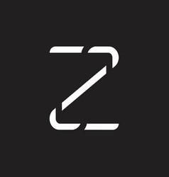 letter z simple thin line geometric logo vector image