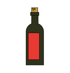 liquor bottle with blank label icon image vector image
