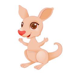 little kangaroo vector image