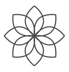 Lotus thin line icon flower vector