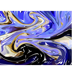 luxury blue dark marble background with swirls vector image