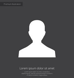 Male profile premium icon white on dark background vector
