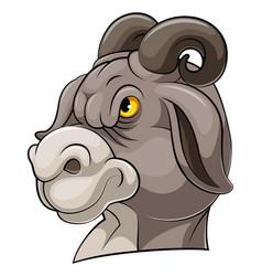 Mascot head an goat vector