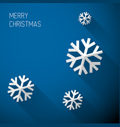 modern blue christmas card with flat design vector image