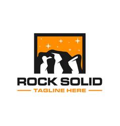 modern rock cliff logo vector image