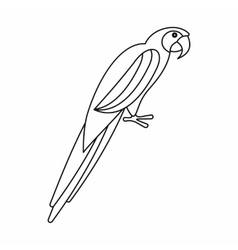Parrot icon outline style vector
