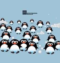 Penguins pattern vector
