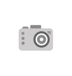 Photo camera isolated in vector