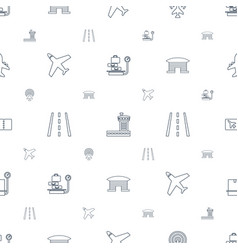 plane icons pattern seamless white background vector image