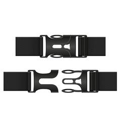 Plastic buckle clasp 03 vector