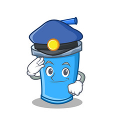 Police soda drink character cartoon vector