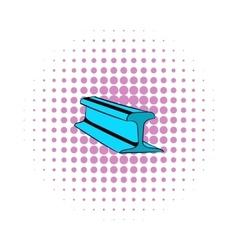 Rail line icon comics style vector image