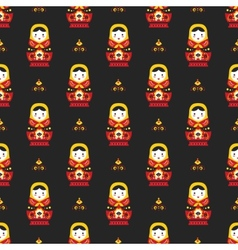 russian doll matreoshka seamless pattern vector image