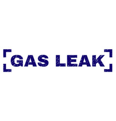 scratched textured gas leak stamp seal inside vector image