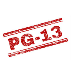 Scratched textured pg-13 stamp seal vector