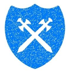 Security Shield Grainy Texture Icon vector image