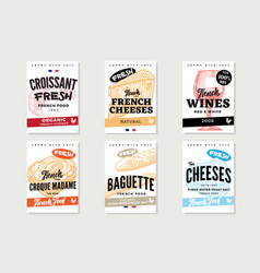 Sketch french food brochures vector