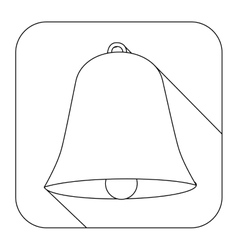 square shape with silhouette bell vector image