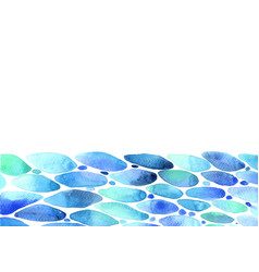 Surface water watercolor hand painting background vector