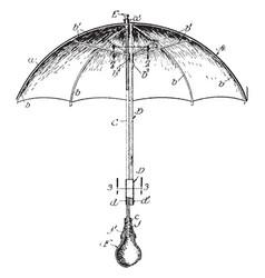 Theatrical umbrella vintage engraving vector