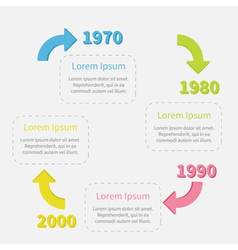 Timeline Infographic circle with colored arrows vector