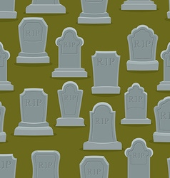 Tombstone seamless pattern Old gravestone ornament vector