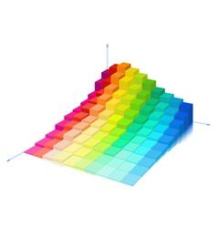 Volumetric multi-colored diagram vector