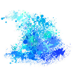 Wave from paint splashes vector
