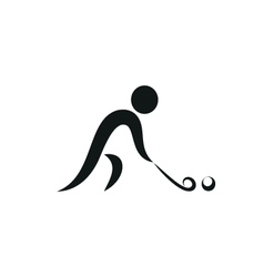 Winter sport Hockey icon monochrome vector