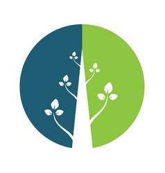 abstract emblem plant logo design vector image vector image