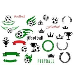 Football or soccer game symbols for sport design vector image vector image