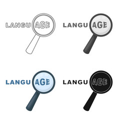 learning foreign language icon in cartoon style vector image vector image