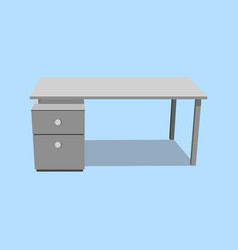 office desk isolated single object realistic on vector image