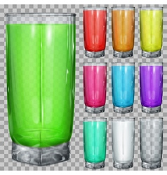 Set of transparent glasses vector image vector image