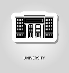 university black building sticker vector image vector image