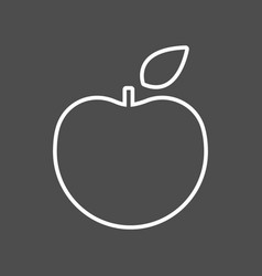 apple thin line icon flat icon isolated vector image