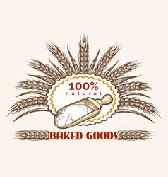 bakery goods vintage emblem vector image