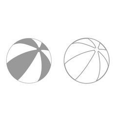 childrens ball it is black icon vector image vector image