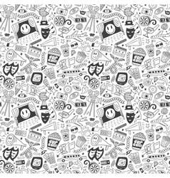 cinema seamless pattern vector image