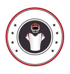 circular frame with uniform american football vector image vector image