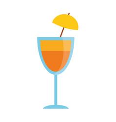 cocktail cup umbrella drink vector image