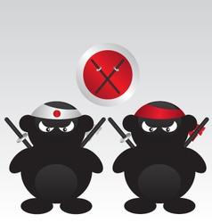 Ninja warrior cartoon vector image