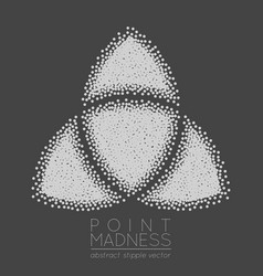 of abstract dotted symbol triquetra vector image